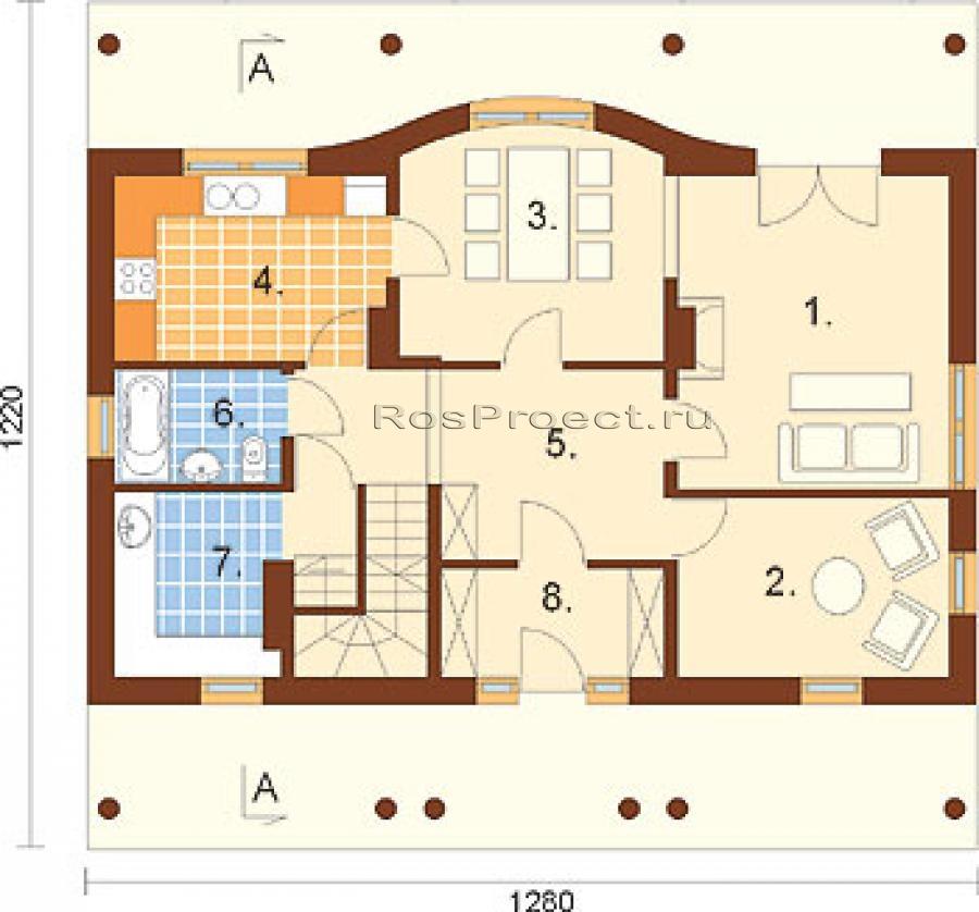 французские проекты одноэтажных домов